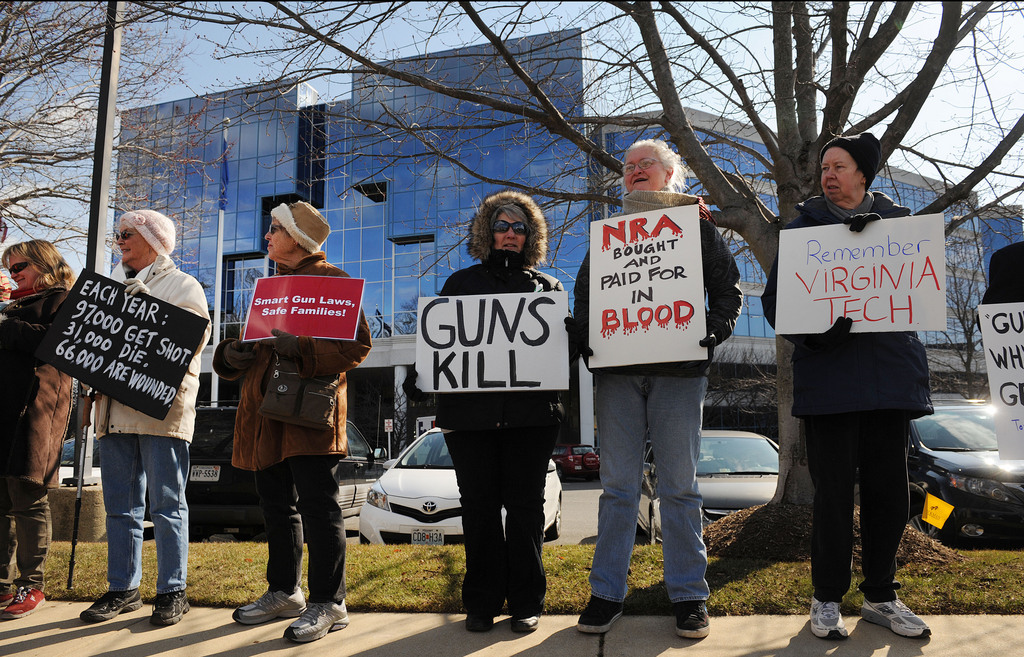 Anti-gun protesters march on NRA