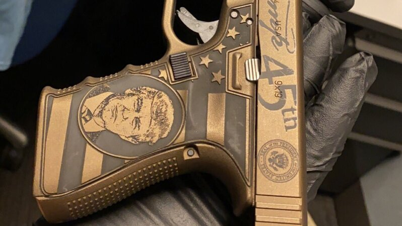 Chicago PD Brags About Confiscating Gun With Trump's Face on It: 'Outstanding Work'
