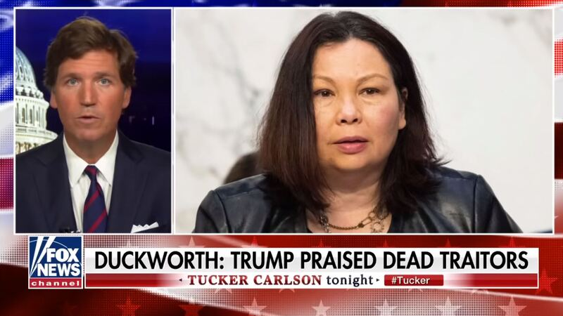 Liberals Outraged After Tucker Says Democrat Senator Who Lost Both Legs in Combat Is a 'Coward'