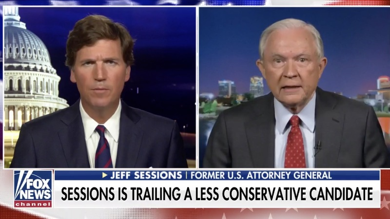 Tucker Carlson Defies Trump on Sessions — Favors Former AG Over POTUS-Endorsed Candidate