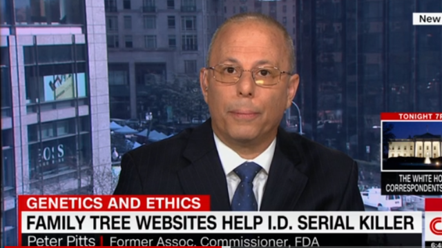 Peter Pitts on CNN: Family tree websites help I.D. serial killer