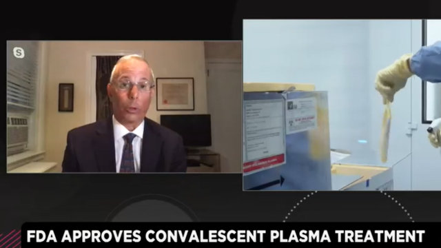 Former FDA Associate Commissioner Says FDA Made Right Move to Authorize Convalescent Plasma