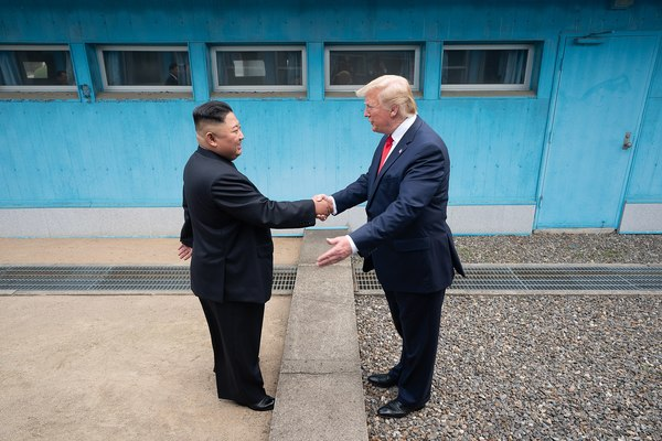 Trump meets Kim, becomes first sitting U.S. president to step into North Korea