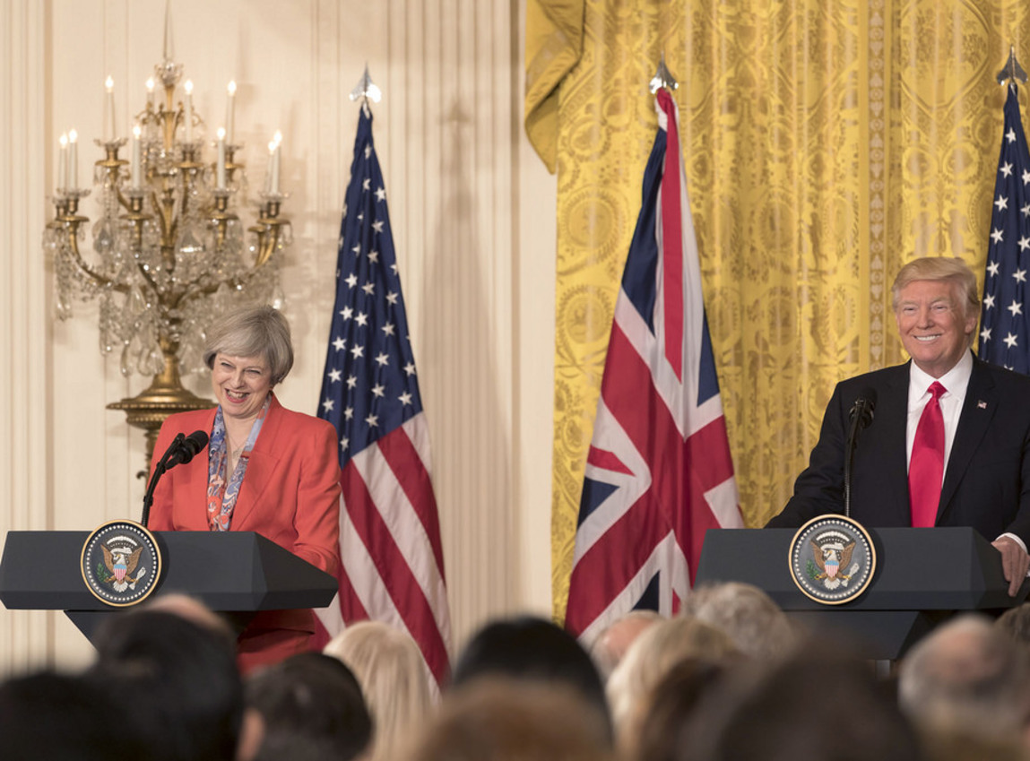 British Prime Minister Theresa May: Trump advised me to sue European Union over Brexit