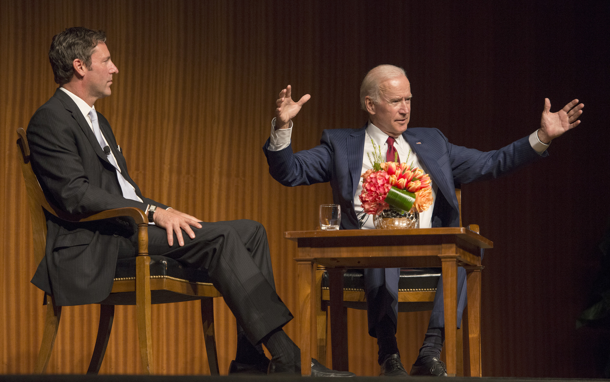 Still struggling for attention, Biden leans on friendly media