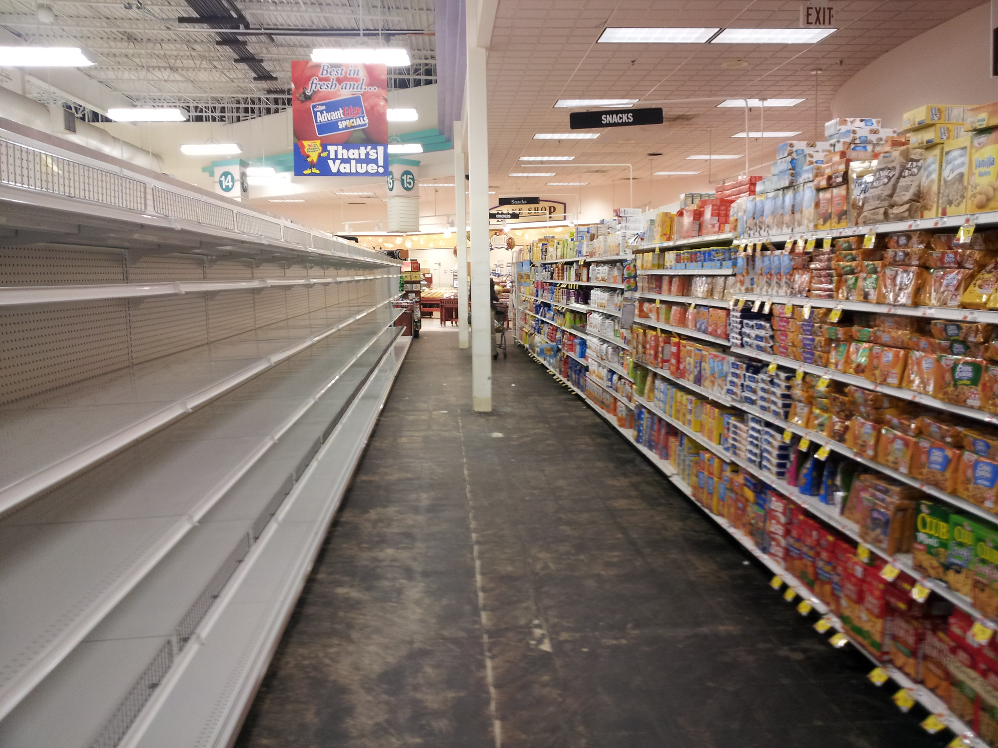 Here is why grocery store shelves are empty
