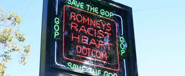 Man jailed for refusing to turn off neon anti-Romney sign