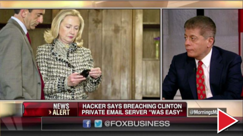 Judge Nap: Proof of Hacking Would Make It 'Nearly Impossible' Not to Charge Hillary  share this  email