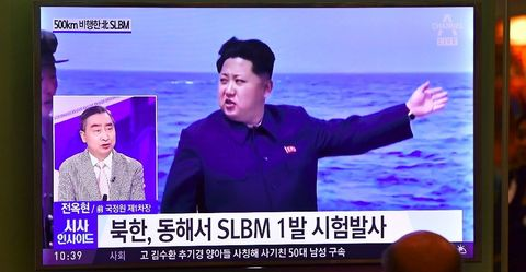 North Korea test-fires sub-launched missile close to Japan
