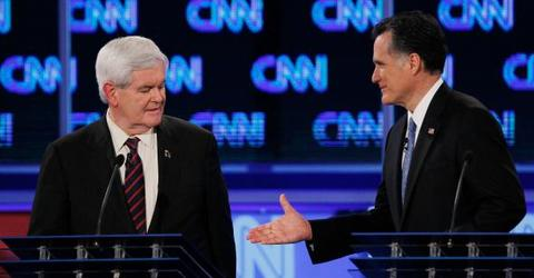 Gingrich mocks Romney for 'sucking up' to Trump