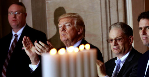 Trump Takes Forceful Tone at Holocaust Remembrance: 'Never Again'