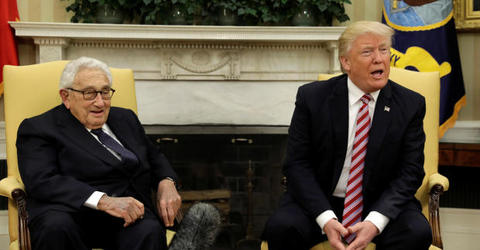 Trump huddles with Henry Kissinger amid tiff with Tillerson
