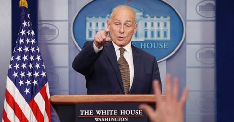 John Kelly declares 'I'm not quitting,' in surprise briefing appearance