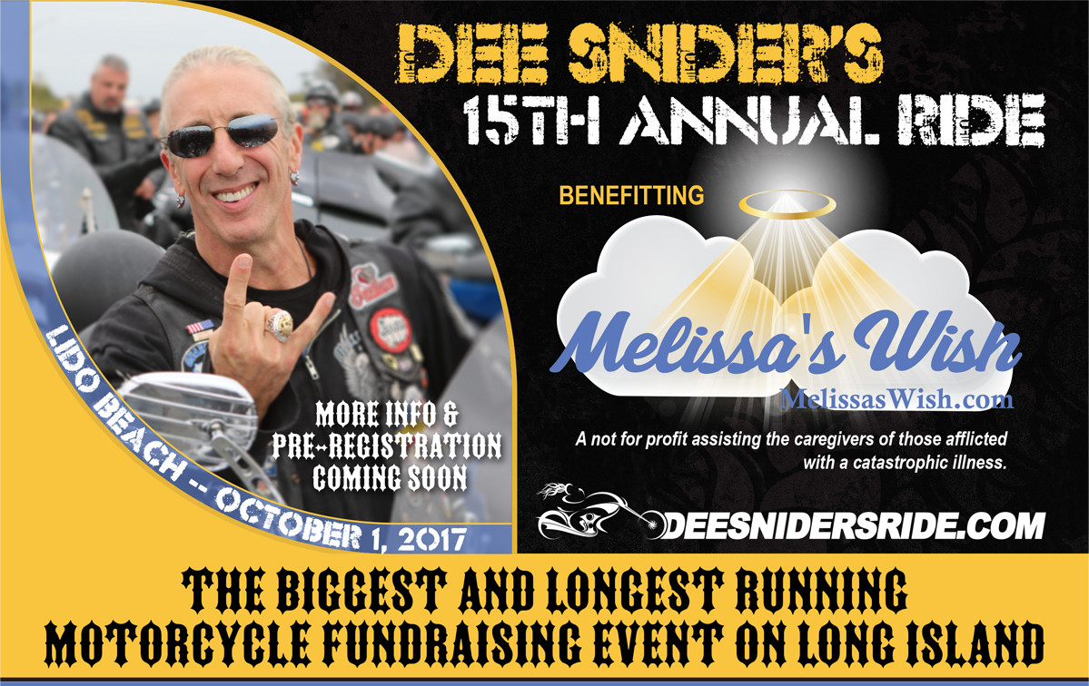 DEE SNIDERS'S 15th ANNUAL RIDE TO BENEFIT MELISSA'S WISH