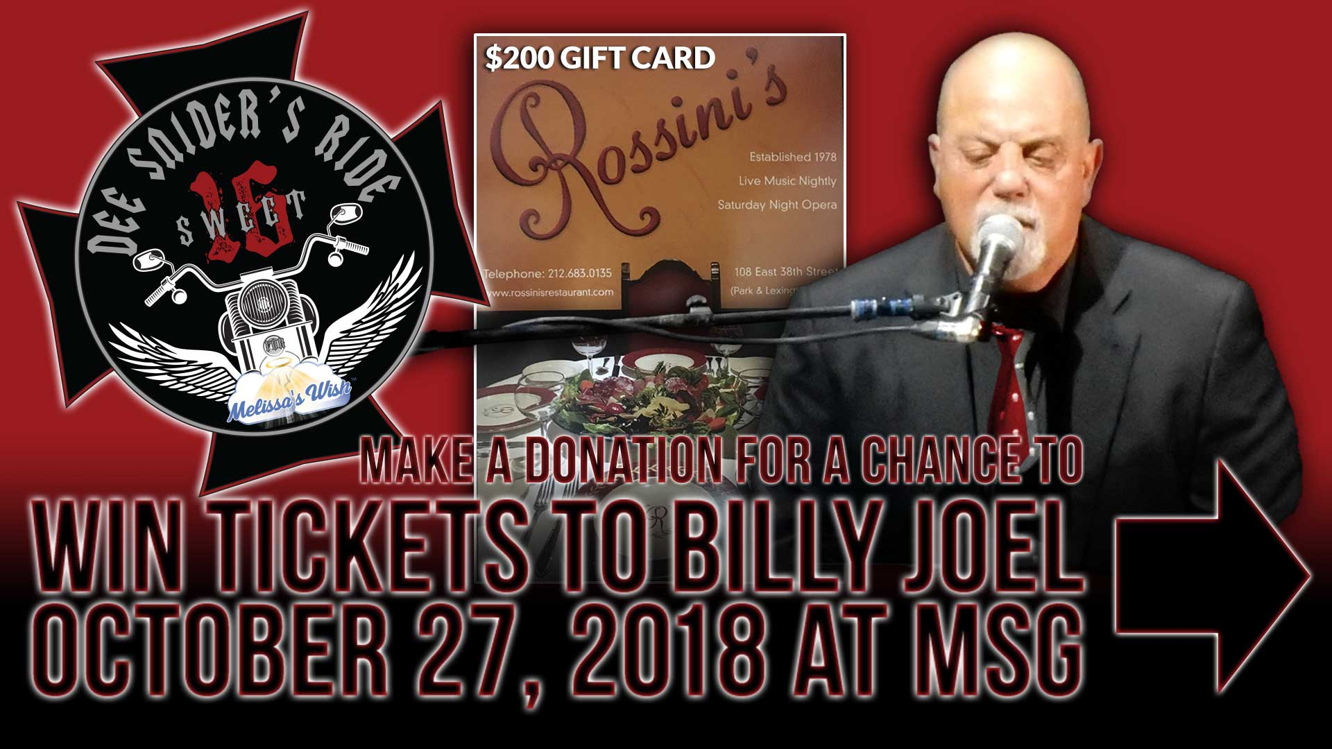 DONATE TO WIN TICKETS TO  BILLY JOEL at MSG