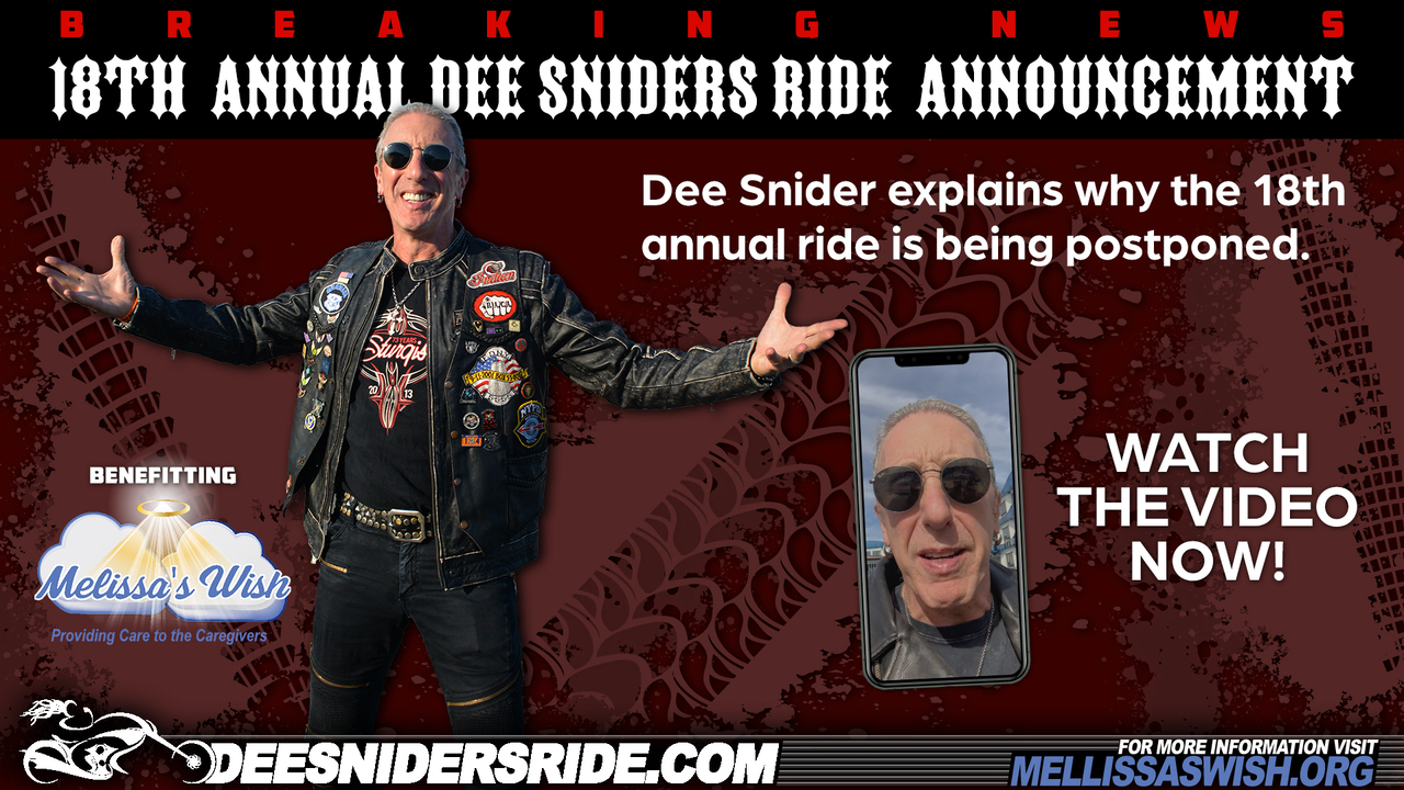 Dee Snider's updates on the 18th annual ride.