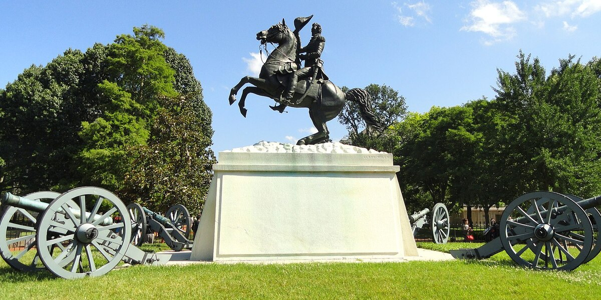 Four Men Charged For Trying To Tear Down Andrew Jackson Statue In DC