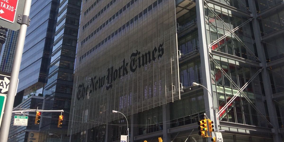 Man In Custody After Climbing New York Times Building In Manhattan