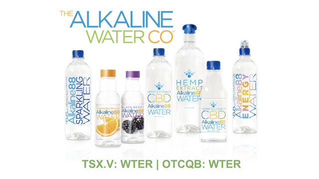 The Alkaline Water Company (TSX|OTC: WTER) Increases Sales by 78%, Prepares For CBD-Beverage Division