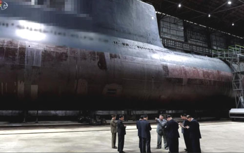 North Korea reveals new missile submarine; Iran possible customer