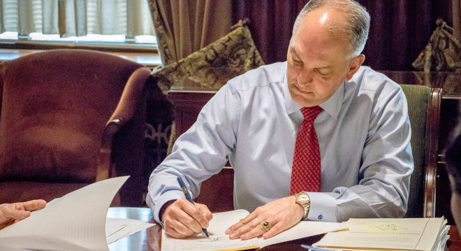 Louisiana Governor signs bill easing regs on CHP holders as armed church security