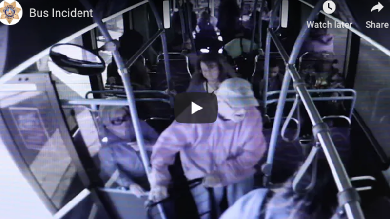 Woman accused of pushing elderly man off bus, after which he hit his head and died, is released from jail