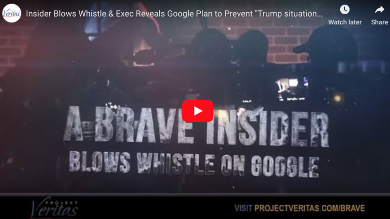Project Veritas – Google Exec Decries Trump's Election: 'How Do We Prevent It from Happening Again'