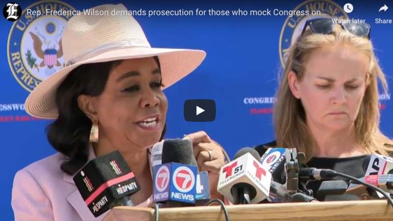 Rep. Frederica Wilson demands prosecution for those who mock Congress online