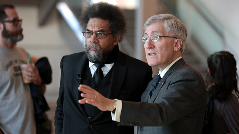 Cornel West urges followers to 'hit the streets' to fight 'vanilla brother' Trump