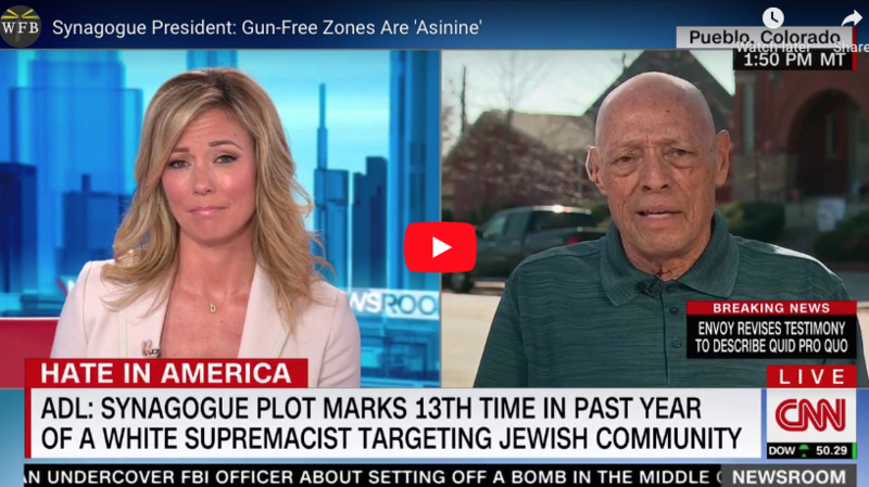 President of Threatened Synagogue on Armed Worshippers: 'We Refuse to Be a Soft Target'