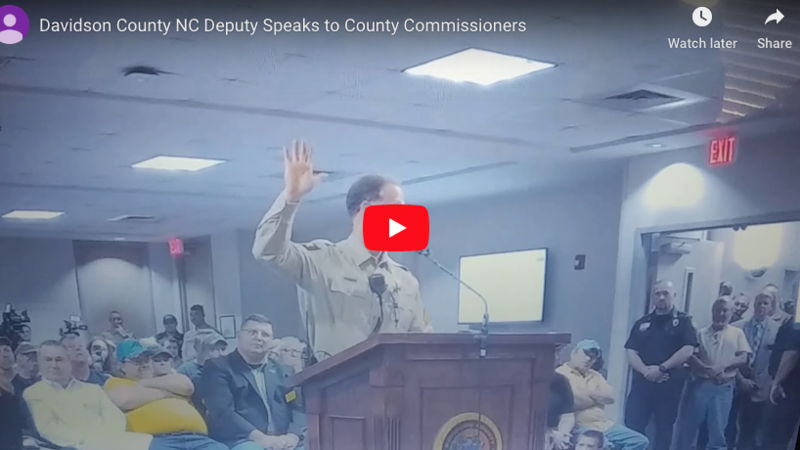 Watch: North Carolina sheriff's deputy delivers epic speech in defense of Second Amendment