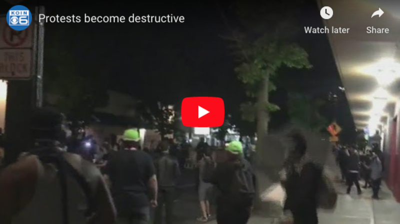 Anti-cop protesters make Portland 'look like a war zone' with fires, looting