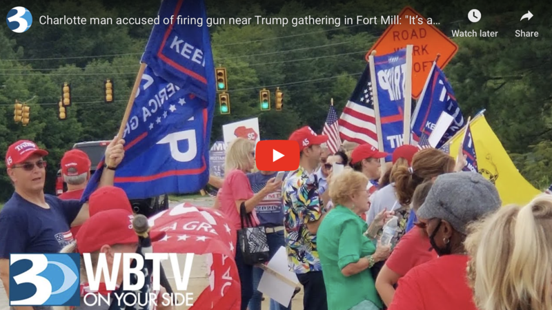 WATCH: Gang fires shots at Trump supporters during rally in Charlotte