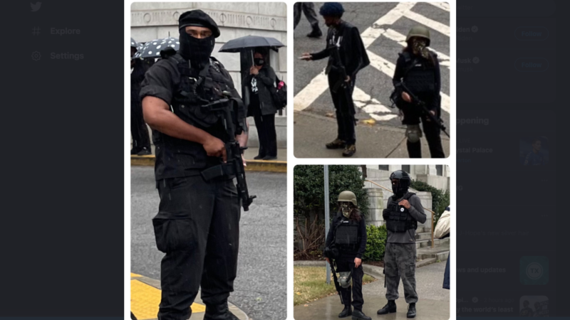 Armed Gunmen Appear at Georgia Capitol on Monday – But It's Ok – They're with Black Lives Matter