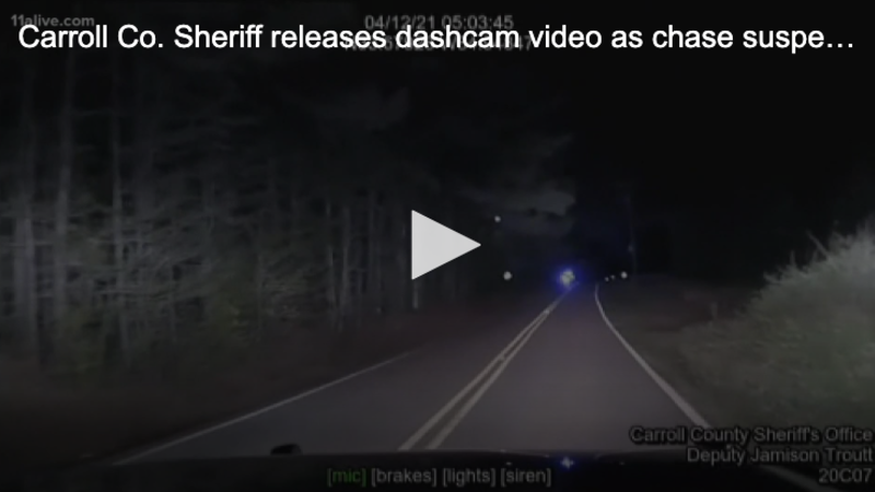 Carroll Co. Sheriff releases dashcam video as chase suspect fires AK47 at deputy
