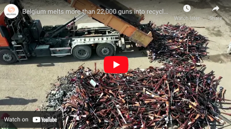 Belgium melts down over 22,000 firearms into recycled steel