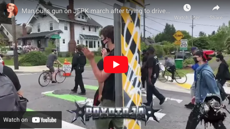 VIDEO: Heavily armed leftists surround, threaten lone Portland motorist. But when fed-up driver points his own gun at them, all hell breaks loose.