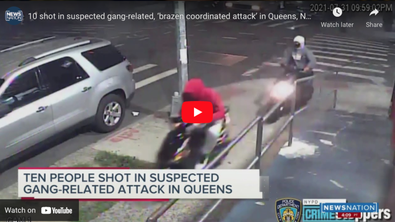 Watch: 10 wounded, including 72-year-old, in 'brazen' NYC shooting where gangbangers escape on mopeds in 'coordinated attack
