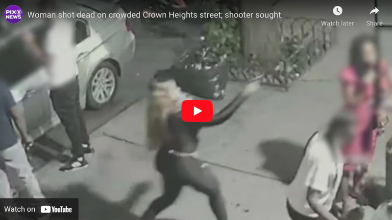 DeBlasio's NYC: Shooter Assassinates Woman in Busy Street then Quietly Gets Back in Car and Drives Off (VIDEO)