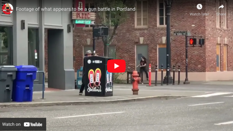 Man opens fire on Portland street as Antifa protesters clashed with Proud Boys