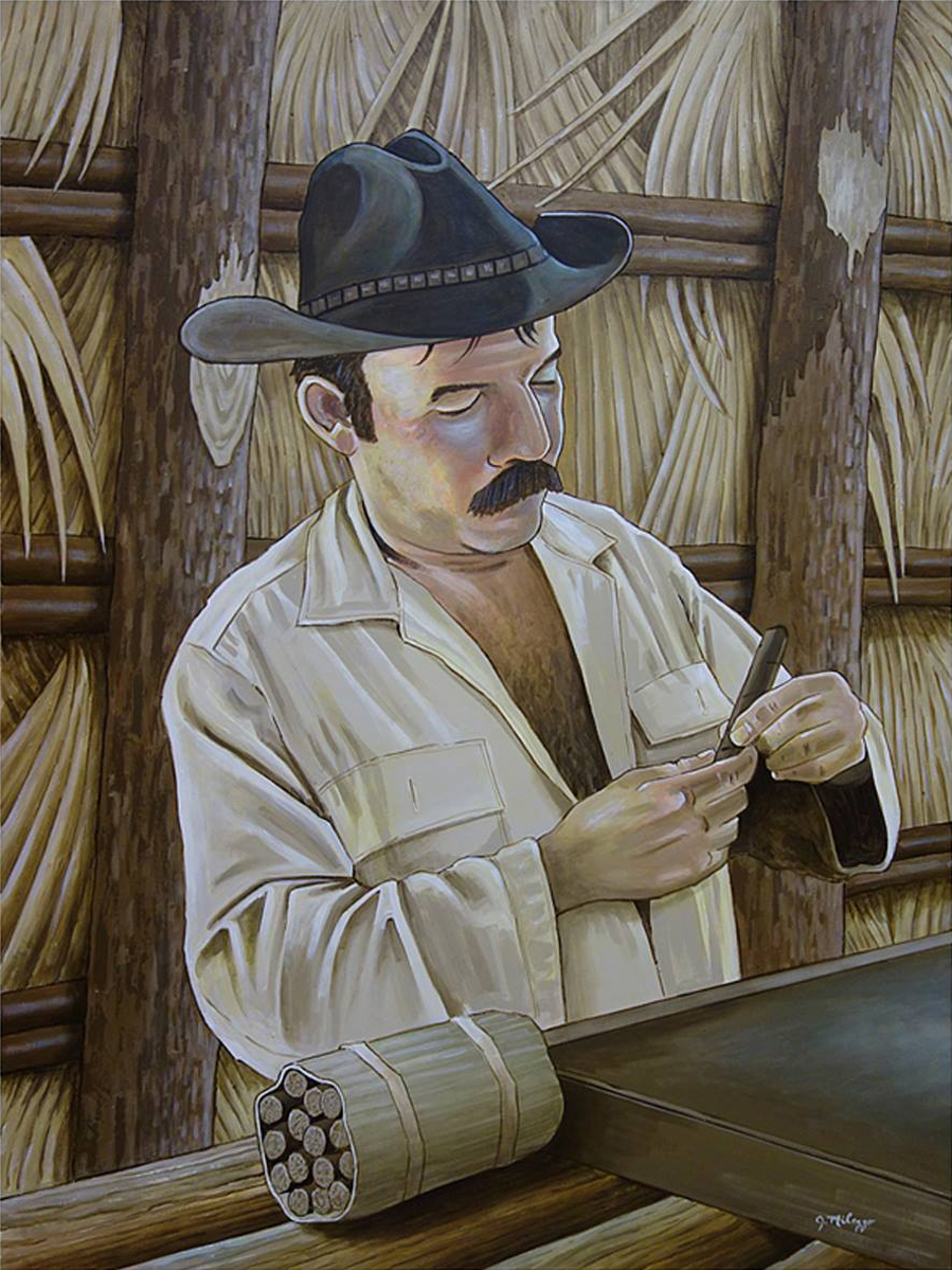 Campesino con tabaco (Peasant Farmer With Cigar)