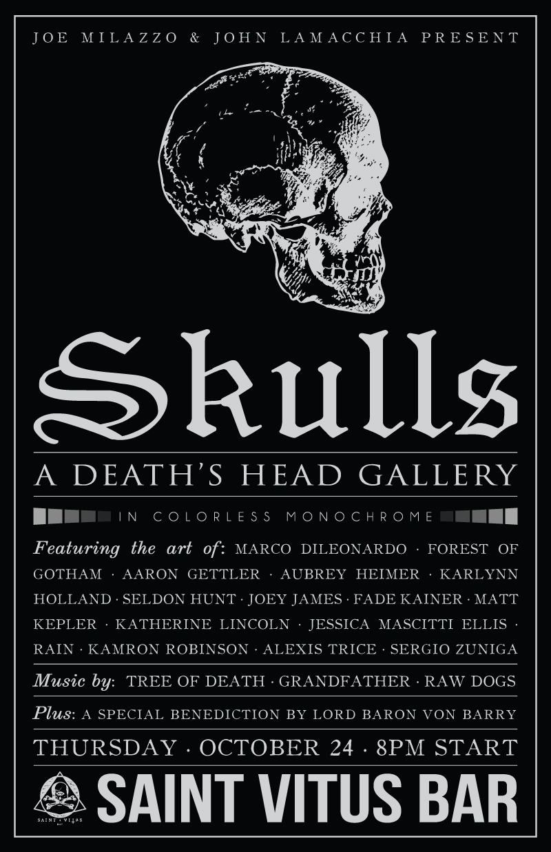 Skulls: A Death's Head Gallery - In Colorless Monochrome