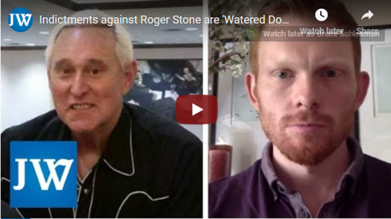 Chuck Ross: Indictments against Roger Stone are 'Watered Down,' Don't Involve Conspiracy with Russia