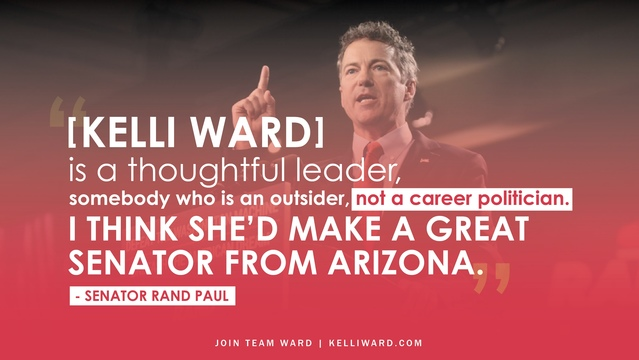 Sen. Rand Paul endorses Dr. Kelli Ward for United States Senate