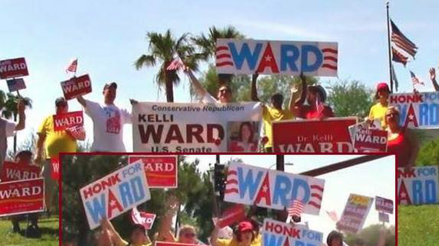 Campaigning for Kelli Ward