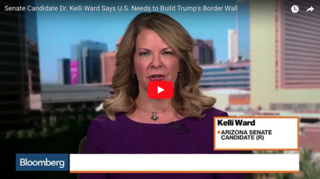 Senate Candidate Dr. Kelli Ward Says U.S. Needs to Build Trump's Border Wall