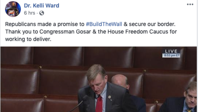 Congressman Gosar Stands up for Americans