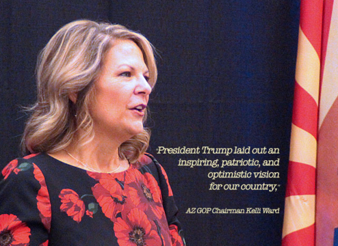 Arizona Republican Chair Kelli Ward Points to Call for Unity & Bipartisan