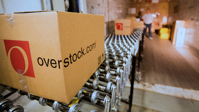 Overstock shares rocket as sale of home e-commerce business is considered