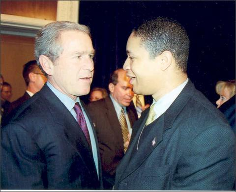 Photo: Nic & President Bush